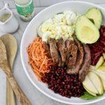 tri tip spinach salad 2