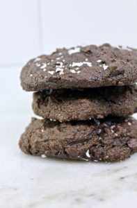sea salt double chocolate cookies