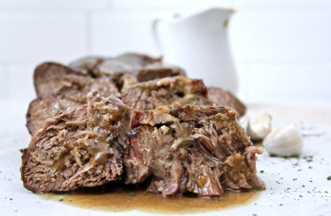 Slow-cooker Chuck Roast in Miso Soup Jus